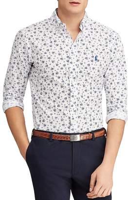 Polo Ralph Lauren Sailboat-Print Slim Fit Button-Down Shirt