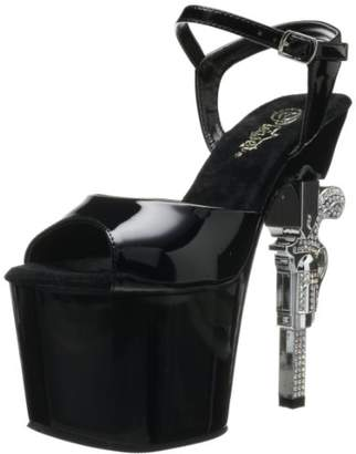 Pleaser USA Women's Revolver-709 Ankle-Strap Sandal
