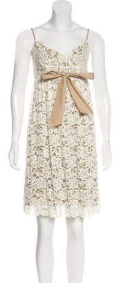 Diane von Furstenberg Sleeveless Knee-Length Empire Dress