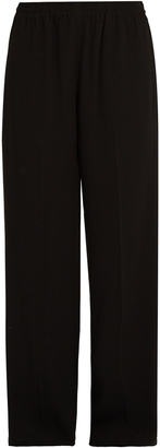 VINCE High-waisted wide-leg crepe trousers $295 thestylecure.com