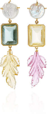 Lizzie Fortunato Joy Ride Gold-Plated, Pearl, Quartz And Topaz Earrings
