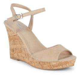 Charles by Charles David Lambert Microsuede Cork Wedge Sandals