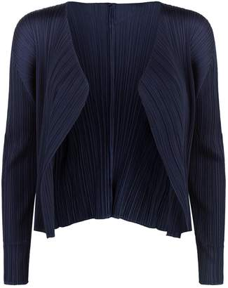 Pleats Please Cropped Pleated Cardigan