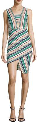 J.o.a. Women's Striped Asymmetrical Dress