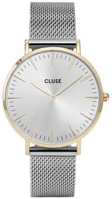 Cluse La Bohème Gold Case Silver Mesh Strap Ladies Watch