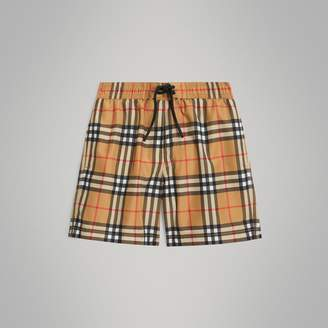 Burberry Vintage Check Swim Shorts , Size: 3Y, Yellow