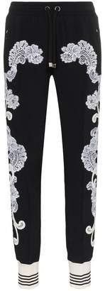 Dolce & Gabbana lace embellished track pants