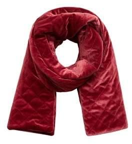 MANGO Velvet quilted scarf