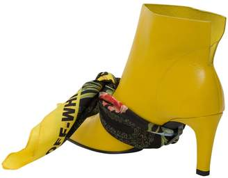 Off-White Off White Pointy Ankle Boots With Kerchief