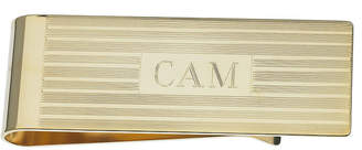Asstd National Brand Personalized Gold-Plated Engraved Lines Money Clip