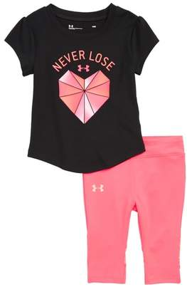 Under Armour Never Lose Graphic Tee & Leggings Set