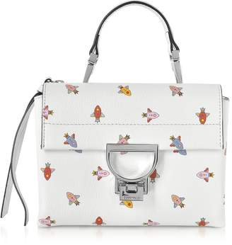 Coccinelle Arlettis Mini Razzo Printed Leather Shoulder Bag