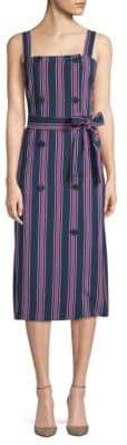 Laundry by Shelli Segal Tie Waist Stripe Dress