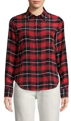 Marc Jacobs Silk Plaid Shirt