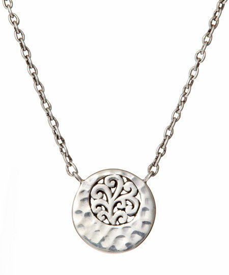Lois Hill Carved Swirls Pendant Necklace