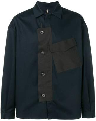 Oamc contrast placket shirt jacket