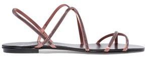Pedro Garcia Esme Swarovski Crystal-Embellished Satin Sandals