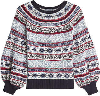 Alexander McQueen Jacquard Pullover in Silk, Wool and Cotton