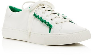 Tory Sport Ruffle Low Top Lace Up Sneakers $225 thestylecure.com