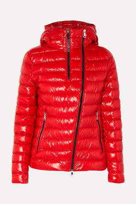 Moncler Hooded Quilted Glossed-shell Down Jacket - Red