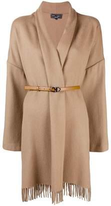 Salvatore Ferragamo belted cape coat