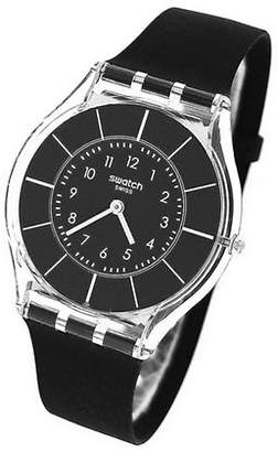 Swatch Black Classiness Silicone Strap Watch