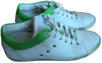 Leather Crown White Leather Trainers
