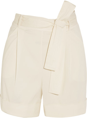 La Perla Op-Art belted stretch-cady shorts $665 thestylecure.com