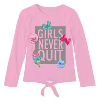"Jo-Jo Jojo Siwa ""Respect the Bow"" Tie Front Long Sleeve T-Shirt (Little Girls & Big Girls)"