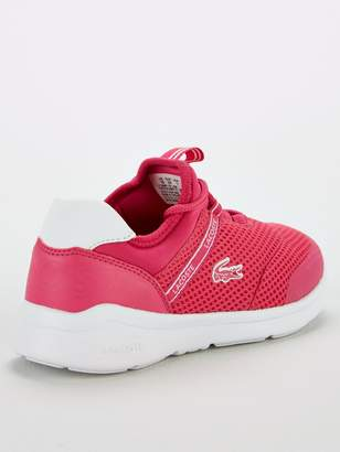 310607f08 Lacoste Girls Lt Dash 119 1 Trainers - Pink