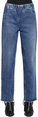 MM6 MAISON MARGIELA Zip Front Straight Cotton Denim Jeans