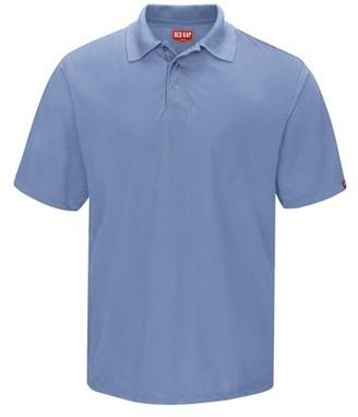 Red Kap Men's Short Sleeve Spun Polyester Pocketless Gripper-Front Polo