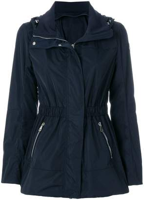 Moncler fitted waist hooded jacket