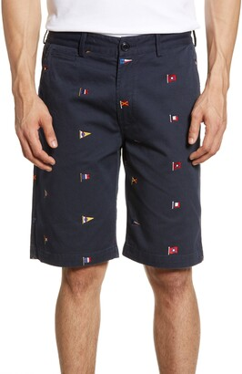 Barbour Flag Embroidered Twill Shorts