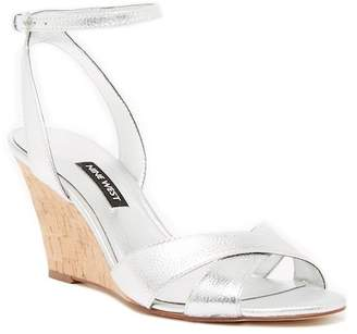 Nine West Kami Leather Wedge Sandal