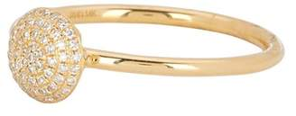 Ron Hami 14K Yellow Gold Pave Diamond Disc Ring - 0.11 ctw