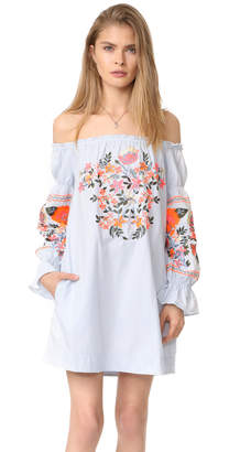 Free People Fleur Du Jour Mini Dress $148 thestylecure.com