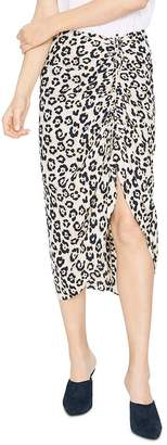 Sanctuary Cinch Me Up Leopard-Print Midi Skirt