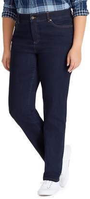 Chaps Plus Mid-Rise Straight Jeans