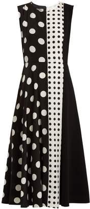 Sportmax Spot panel mid-length A-line dress