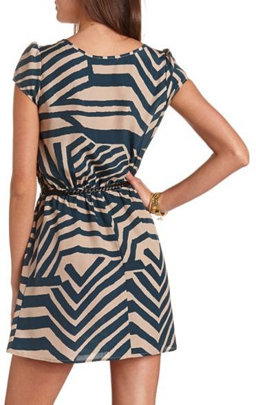 Charlotte Russe Belted Cap Sleeve Dress