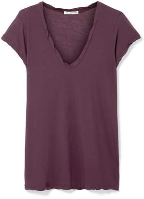 James Perse Cotton-jersey T-shirt - Grape