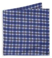 Saks Fifth Avenue COLLECTION Silk Plaid Pocket Square