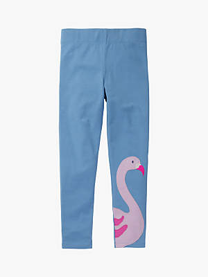 Boden Mini Girls' Flamingo Applique Leggings, Blue