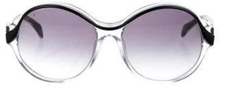 Balenciaga Gradient Round Sunglasses