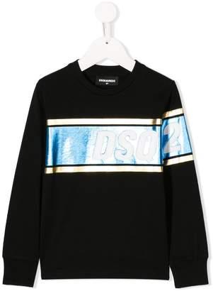 DSQUARED2 metallic logo sweatshirt
