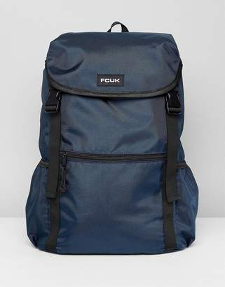 French Connection Nylon Backpack In Navy