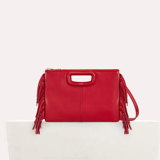 Maje M Duo clutch in leather