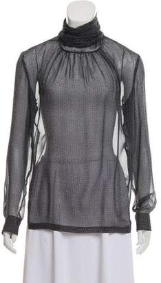 Barbara Bui Silk Printed Top
