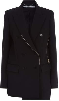 Stella McCartney Double-Breasted Zipped Blazer